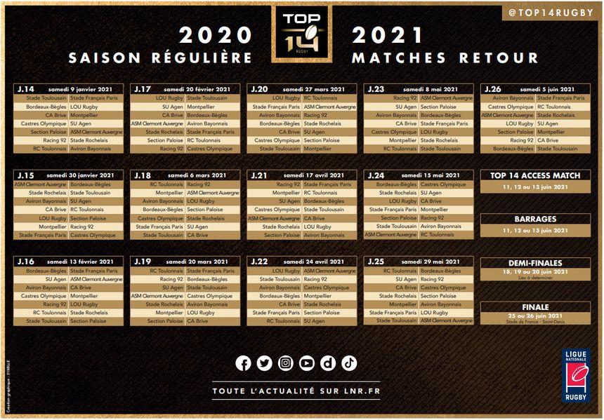 Top 14 Calendrier 2021 Top 14   Découvrez le calendrier du Stade Rochelais pour la saison
