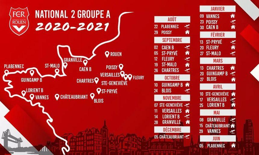 National 2 : le calendrier du FC Rouen pour la saison 2020 2021