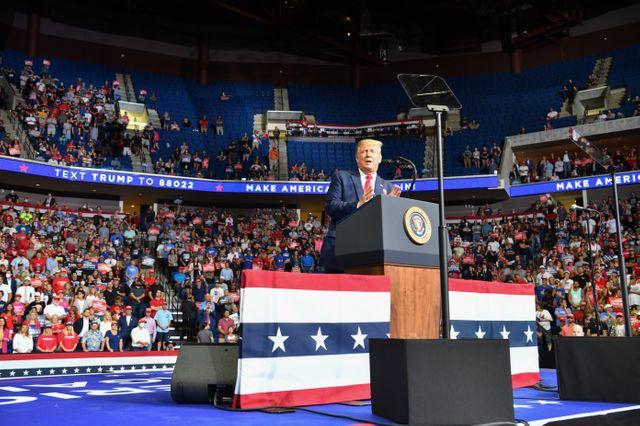 Le meeting de Donald Trump à Tulsa en juin dernier, que des utilisateurs de TikTok se sont vantés d'avoir saboté.