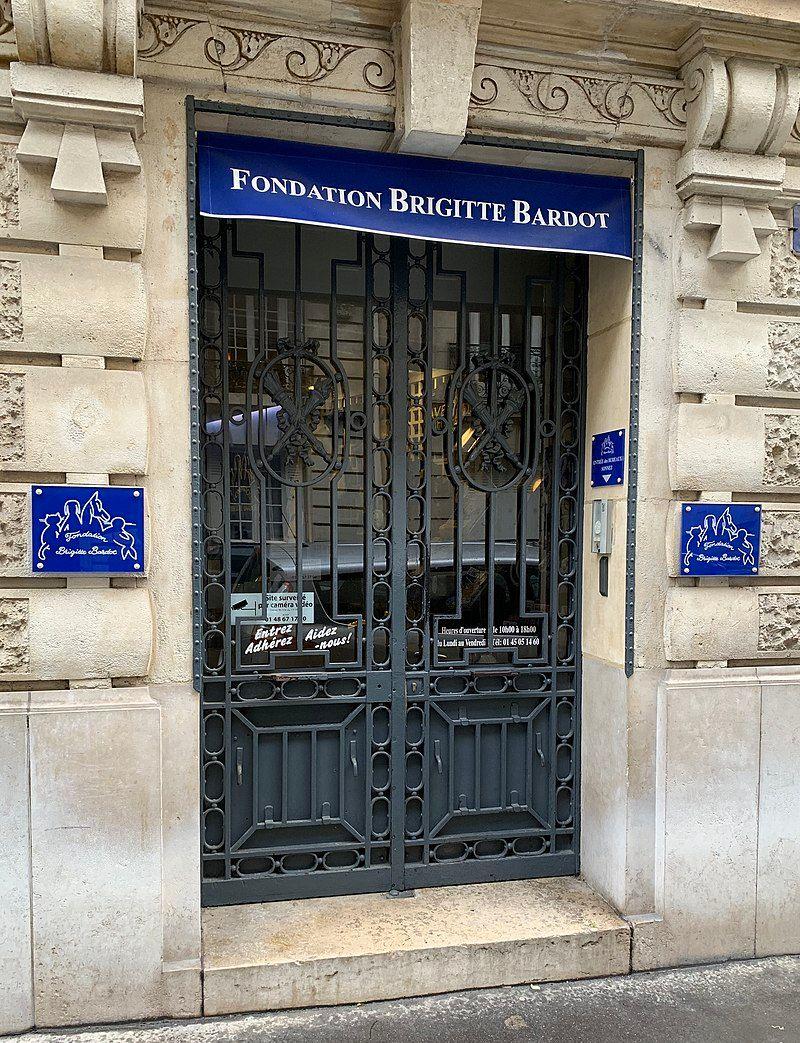 Le siège de la Fondation Brigitte Bardot, rue Vineuse, dans le seizième arrondissement de Paris.