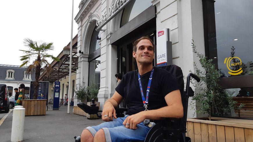 Jérémy David est président de l'association Pau-Béarn Handisport.