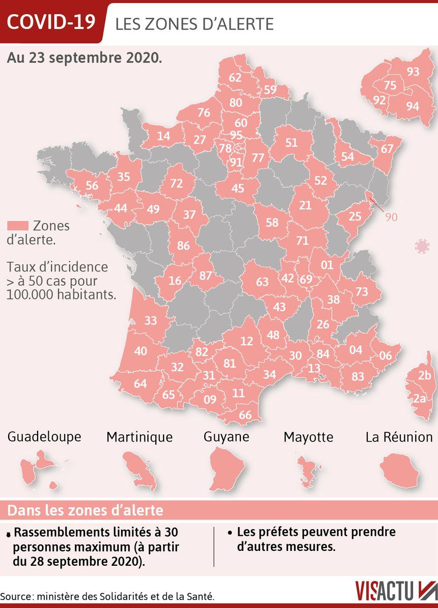 Cartes Coronavirus Zones D Alerte Renforcee Et Maximale Decouvrez Les Nouvelles Cartes De L Epidemie