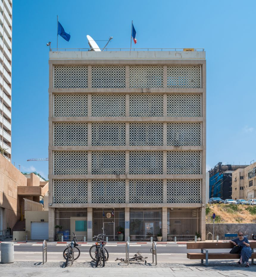 L'ambassade de France en Israël, située à Tel-Aviv.