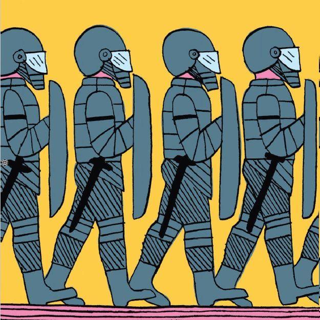Dessin de Aurore Petit dans le numéro spécial de La Revue Dessinée X Médiapart sur les violences policières, paru en octobre 2020