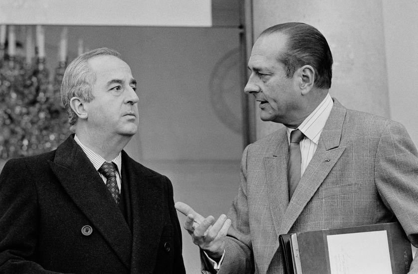 Edouard Balladur et Jacques Chirac alors respectivement ministre de l'Economie et Premier ministre.