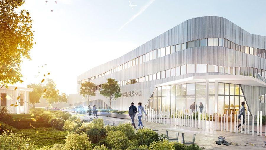 Le futur campus SNCF de formation à Bègles