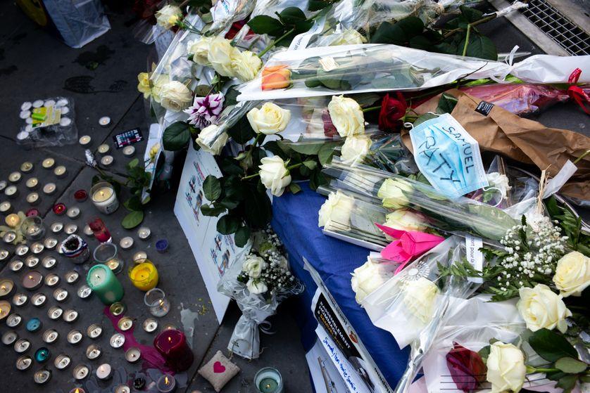 Hommage à Samuel Paty Place de la république à Paris le  18 cotobre 2020