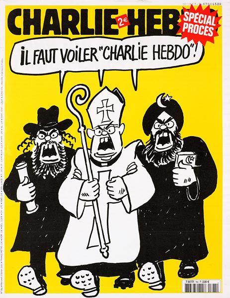"""""""Il faut voiler Charlie Hebdo !"""", Cabu, Charlie Hebdo, 7 février 2007"""