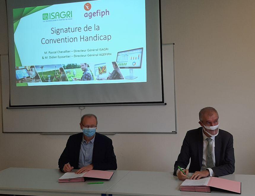 Grâce à la signature de la convention avec l'Agefiph, l'entreprise ISAGRI va recevoir des aides financières pour multiplier ses actions en faveur de l'inclusion des salariés handicapés.