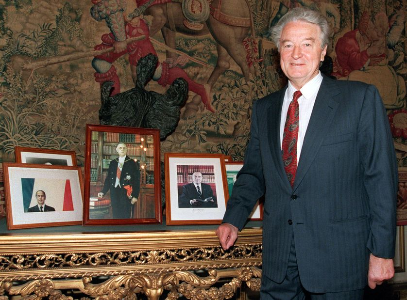 Roland Dumas le 9 mars 1995.