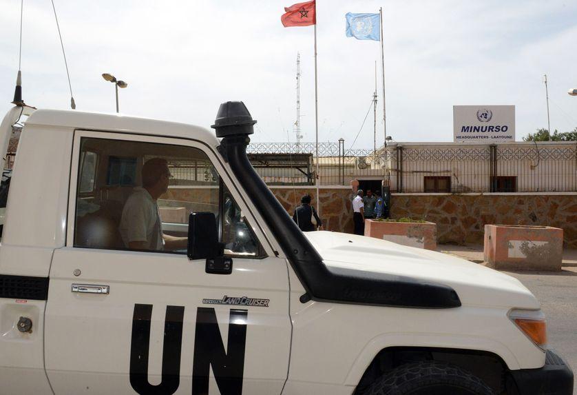 Depuis 1991, l'ONU a déployé une mission de maintien de la paix, la Minurso (ici à Laâyoune), chargée d'organiser un référendum d'autodétermination pour le peuple sahraoui.