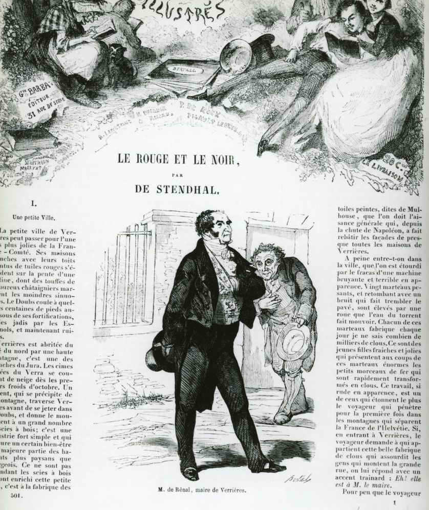 """""""Le Rouge et le Noir"""" de Stendhal / La dictée : """"Le Malade imaginaire"""" de Molière"""