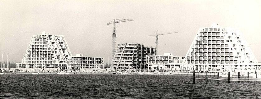 Chantier de la Grande Motte en 1969
