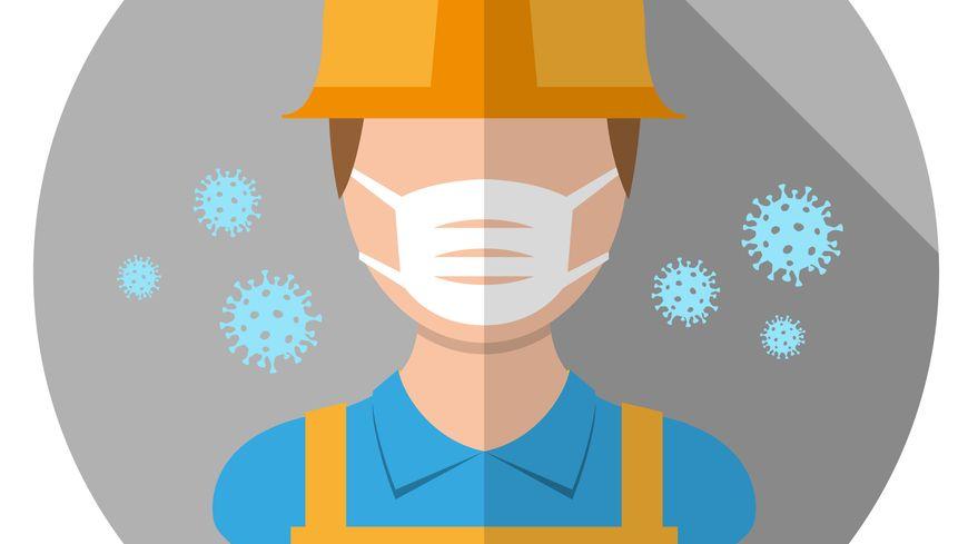 Illustration : travail, gestes barrières