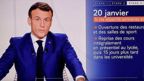 Covid-19 : Emmanuel Macron annonce un allègement des mesures de restrictions en trois étapes