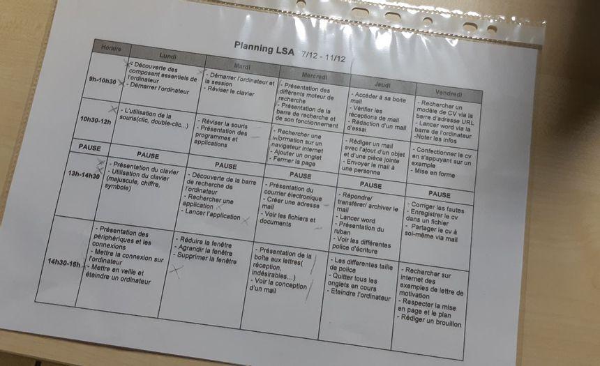 Le programme de cette première semaine de formation