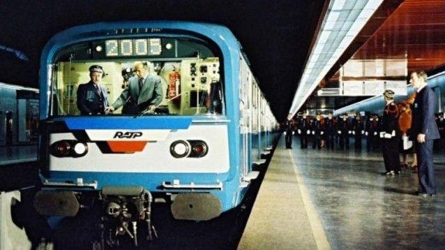 En 1977, quand Valery Giscard d'Estaing inaugurait le RER à Châtelet-Les Halles