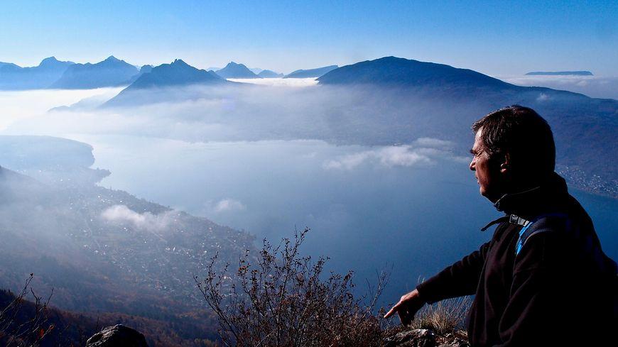 Jacques Dallest au sommet du Mont Veyrier