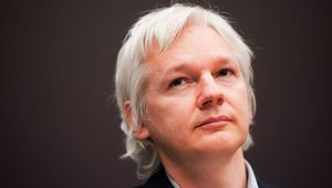 """Le fondateur de """"Wikileaks"""" Julian Assange, Londres, décembre 2011"""
