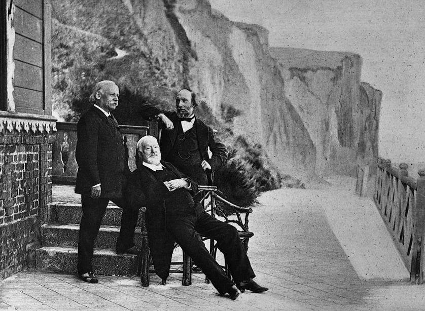 Victor Hugo pendant son exil sur l'île de Guernesey, entre 1851 et 1870.