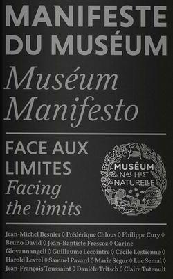 Manifeste du muséum - Museum manifesto, Coédition Reliefs / Muséum national d'Histoire naturelle, 2020.