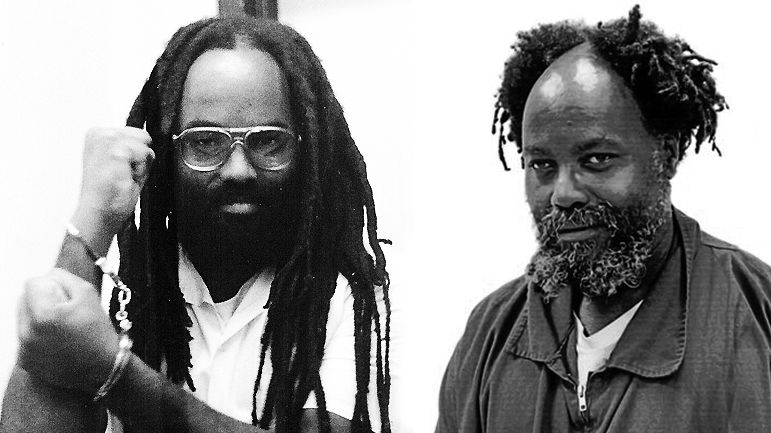 Mumia Abu Jamal. en 1982 et en 2019.