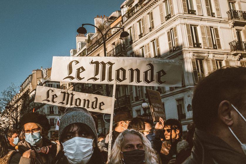 Marche des libertés contre les lois liberticides, à Paris le 28 novembre 2020.