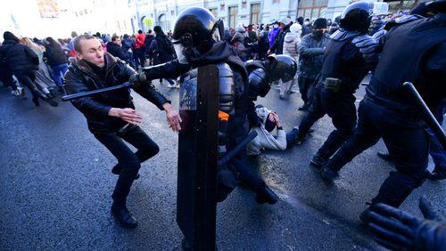 Des centaines d'arrestations de soutiens d'Alexeï Navalny