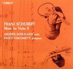 Sonate pour violon et pianoforte n°1 en Ré Maj op posth 137 n°1 D 384 : 3. Allegro vivace - ARIADNE DASKALAKIS