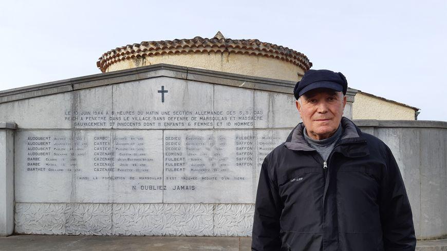 Jean-Pierre Blanc, ancien maire, porte avec vigueur l'histoire de Marsoulas.