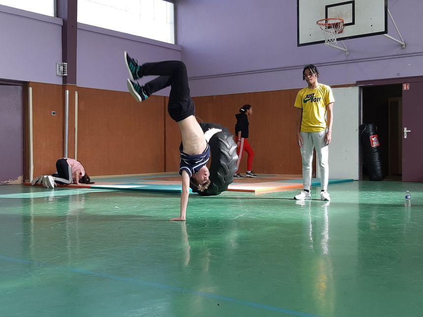 French break dance workforce trains in Vandeuvre