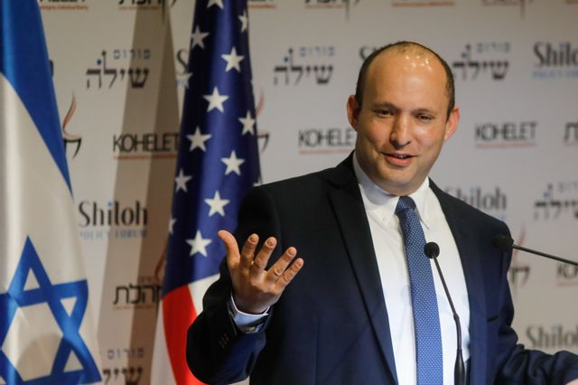 Naftali Bennett le 8 janvier 2020 à Jérusalem