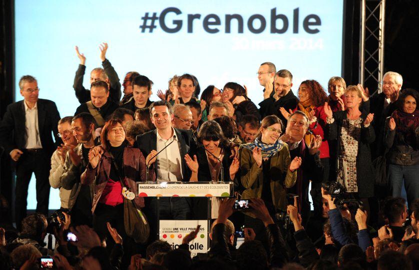 Éric Piolle nouvellement maire de Grenoble élu le 30 mars 2014.