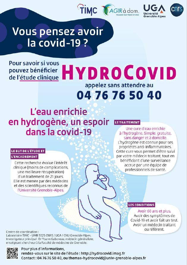 """L'affiche de l'étude """"hydrocovid""""."""