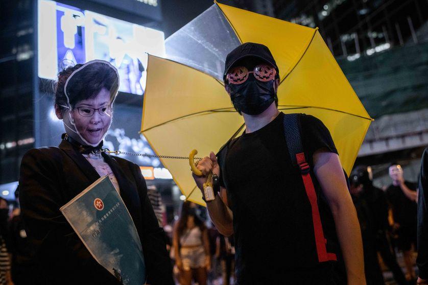 Manifestants pro-démocratie à Hongkong le 31 octobre 2019