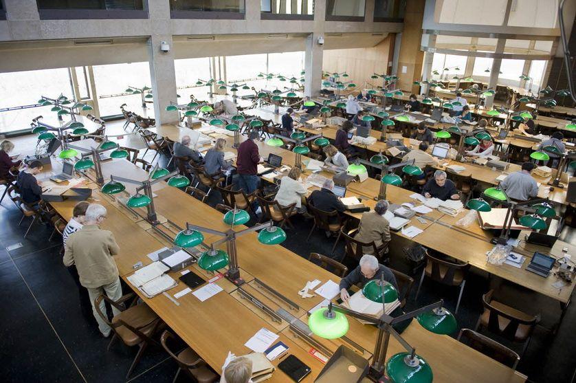 Salle de lecture, Archives nationales, Pierrefitte-sur-Seine. (Avec l'aimable autorisation des Archives nationales de Pierrefitte-sur-Seine)
