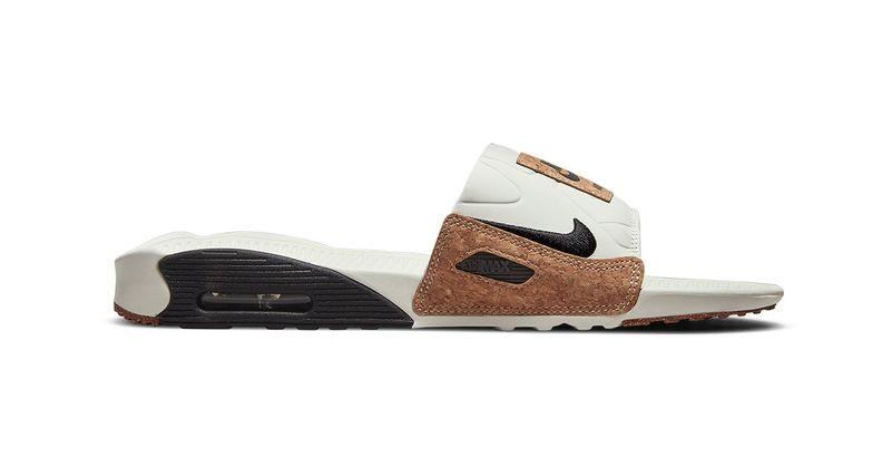 Nike lance une paire de claquettes Air Max 90 en liège