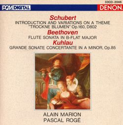 Grande sonate concertante pour flûte traversière et piano en la min op 85 : 4. Rondo. Allegro poco agitato - ALAIN MARION