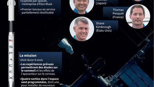 SpaceX envoie quatre astronautes, dont le Français Thomas Pesquet
