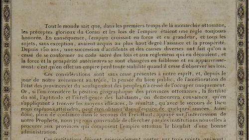 Épisode 3 : Le décret des Tanzimat, explication de textes