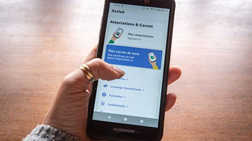 Le pass sanitaire pourrait être utilisé avec l'application TousAntiCovid.