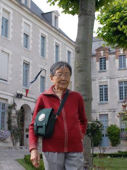 29.06.2007 : Cai Ni, octogénaire pékinois, à Montargis où a vécu et travaillé son père Cai Hesen, un des théoriciens de la révolution communiste chinoise et sa mère Xiang Jingy, première femme membre du comité central du Parti Communiste Chinois