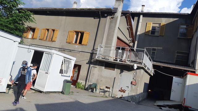 Le refuge d'Oulx en Italie