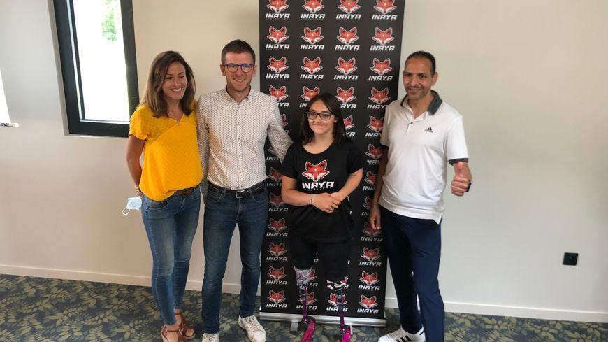 De gauche à droite : Vincianne Cussot, Damien Veillon, Inaya et Mohamed Serbouti