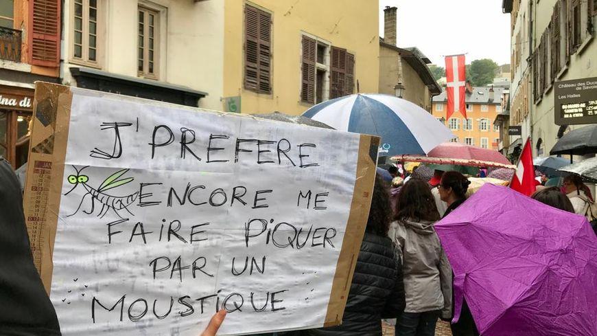 Plusieurs centaines de manifestants anti-pass sanitaire mobilisés à Chambéry.