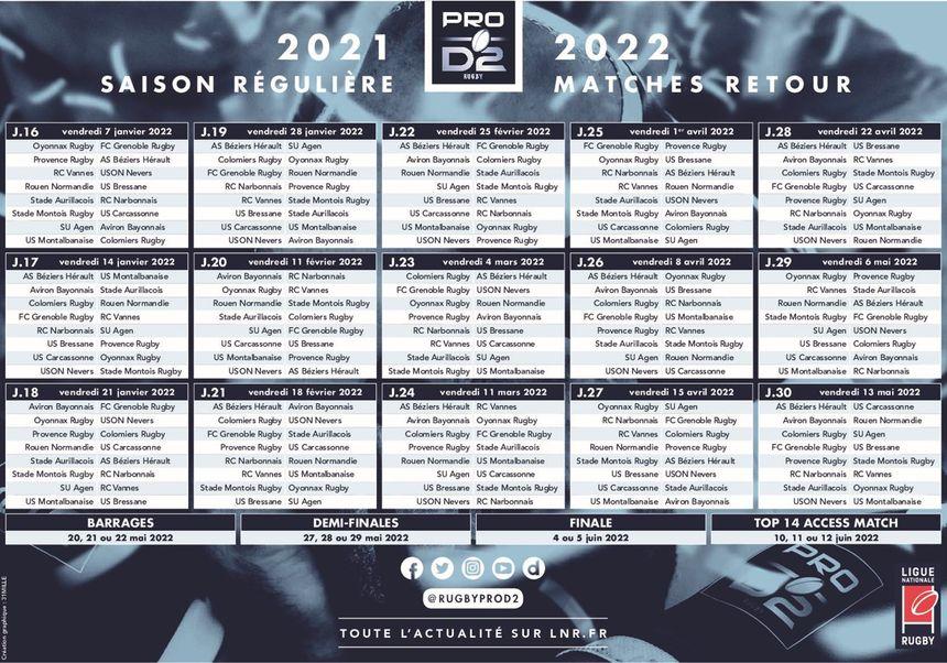 Calendrier 2022 Rugby Découvrez le calendrier 2021 2022 du FCG en Pro D2 de rugby