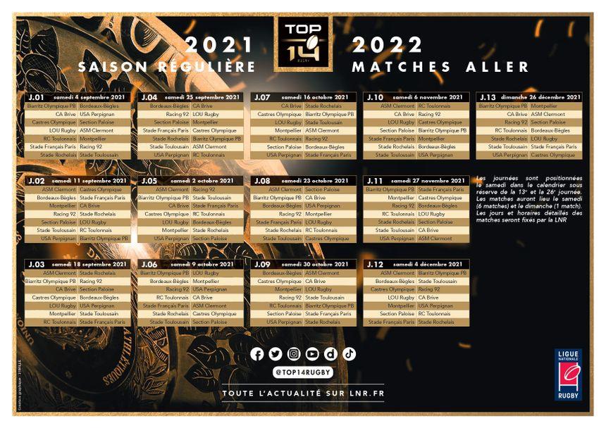Calendrier Stade Toulousain 2022 Top 14 : découvrez le calendrier du Biarritz Olympique pour la
