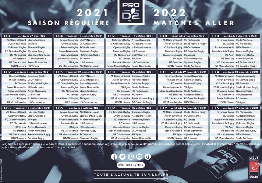 Calendrier Pro D2 2022 2023 Découvrez le calendrier 2021 2022 du FCG en Pro D2 de rugby