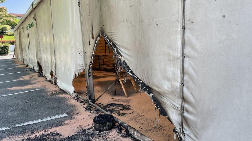 Le centre de vaccination d'Urrugne partiellement incendié dans la nuit de samedi à dimanche