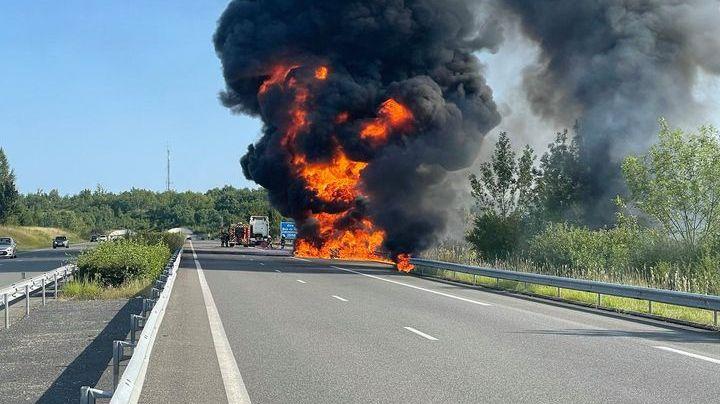 Dans le Tarn-et-Garonne, l'autoroute A20 coupée au sud de Cahors après un feu de poids lourd